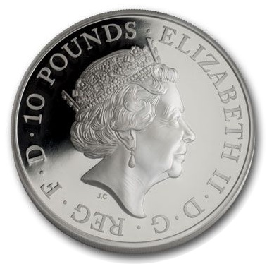 Silver Proof £10