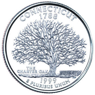 1999 - Connecticut State Quarter (D)