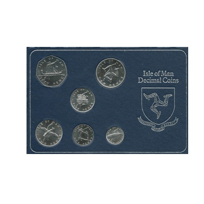 1976 Isle of Man Silver Decimal Coin Set