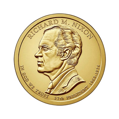 2016 (D) Presidential $1 Coin – Richard M Nixon