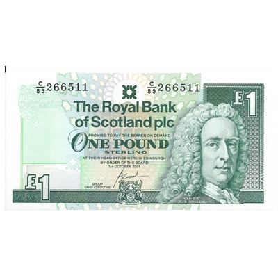 2001 Royal Bank of Scotland Plc £1