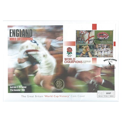 "1997 BU £1 Coin - Rugby ""World Cup Victory"""