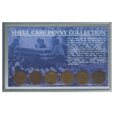 1944-1946 US Complete Shell Case Penny Collection