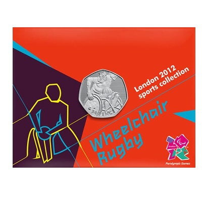 2011 BU 50p Coin Card - London 2012 - Wheelchair Rugby